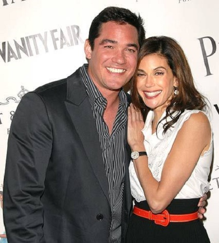 Dean Cain with his ex-girlfriend, Ami Dolenz