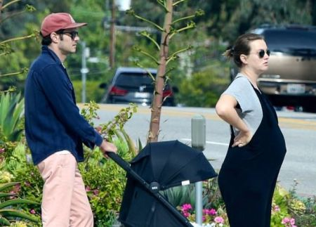 Leighton Meester and her husband, Adam was seen walking in LA for their usual walk.