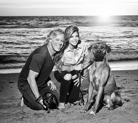 Amie and Scott Amie Yancey with their dog named Zuma