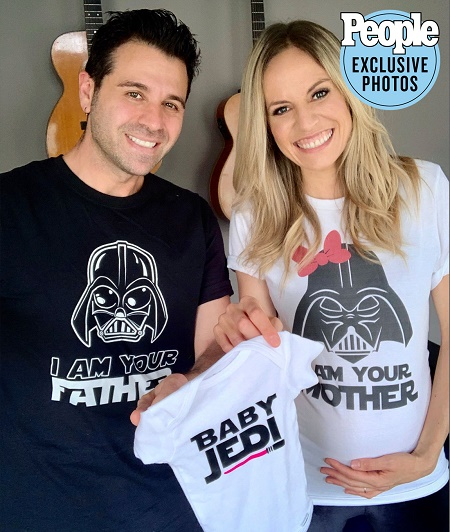 The Musical duo Haley & Michaels who married on May 9, 2015 are expecting their first child together.