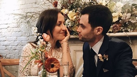 And baby makes new parents to Penn Badgley and Domino Kirke, who married in February 27, 2017.