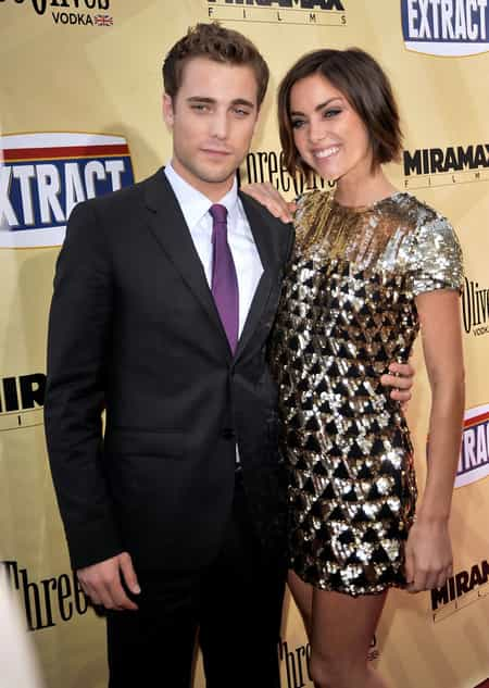 Dustin Milligan and his ex- Jessica Stroup during the film premiere
