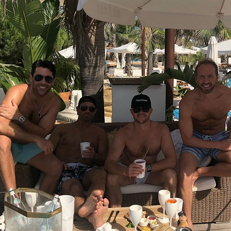 Rob Schmitt's Chilling with his Friends at Nikki Beach Saint Tropez