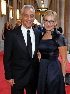 Mayor, Rahm Emanuel and wife, Amy Rule
