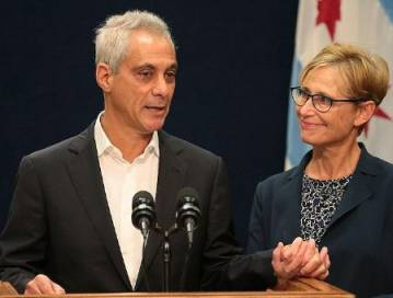 Rahm Emanuel and wife, Amy Rule