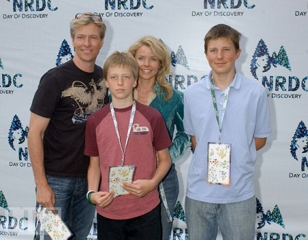 Jack Wagner and Kristina Wagner with their Two Sons