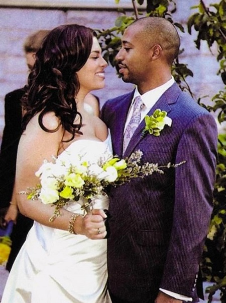 Justin Ervin and Ashley Graham at their Wedding Day