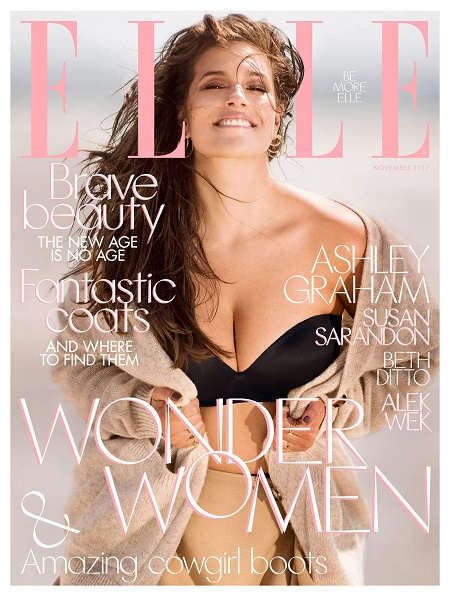 Ashley Graham's Flaunting on Cover Of Elle