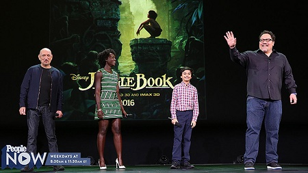 Madeleine Favreau and Brighton Rose Favreau Co-starred on their dad's directed movie,  The Jungle Book