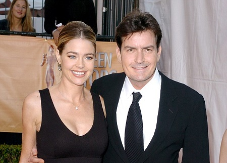 Denise Richards with her Ex-Husband, Charlie Sheen