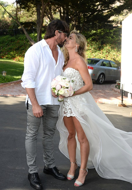 Denise Richards and Aaron Phypers at Their Wedding Day