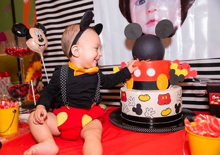 Janice Villagran's Celebrates her Son 1st Birthday in October 2019