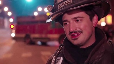 Yuri Sardarov portraying in the series Chicago Fire