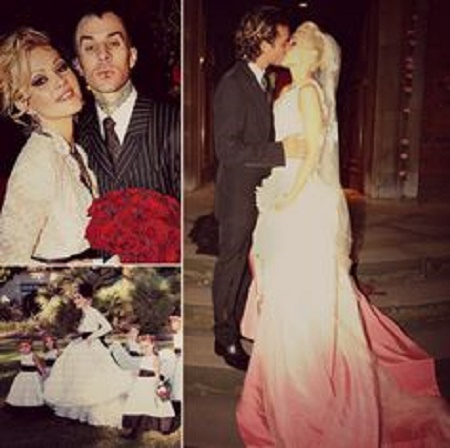 The Wedding Picture of Travis Barker and  Shanna Moakler