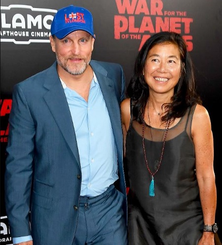 Woody Harrelson and Laura Louie Together
