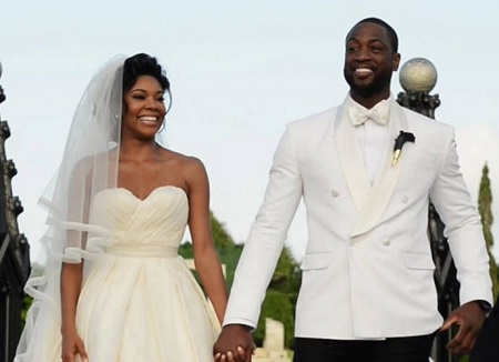 The Wedding Picture of Dwyane Wade and  Gabrielle Union