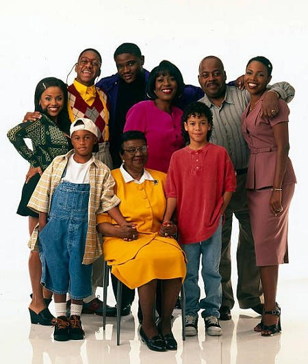 "Kellie Williams With Her ""Family Matters"" Cast Members in 1996"