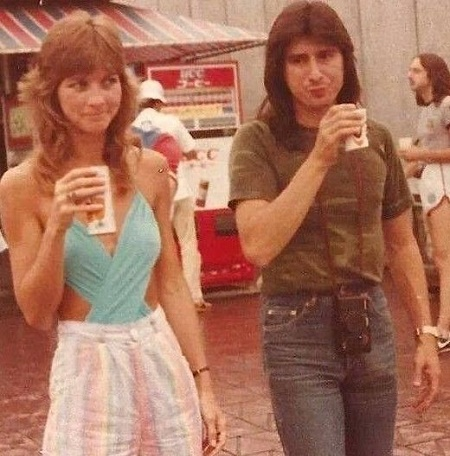 The Yoga Instructor, Sherrie Swafford with her Musician Boyfriend,  Steve Perry in Late 1980s