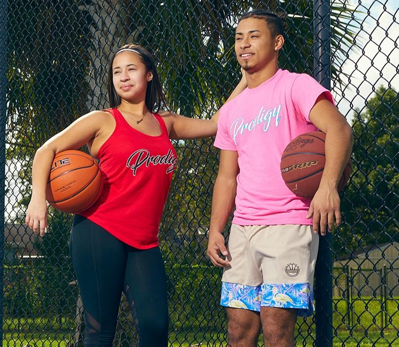 Jaden, with her brother, enjoying her lavish life by playing a basketball.