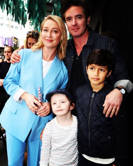 Asher Keddie With Her Husband, Vincent, Son, Valentino, and StepChild Luca