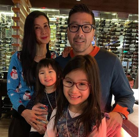 This Is Life with Lisa Ling host with her husband and two daughters Jett & Ray.