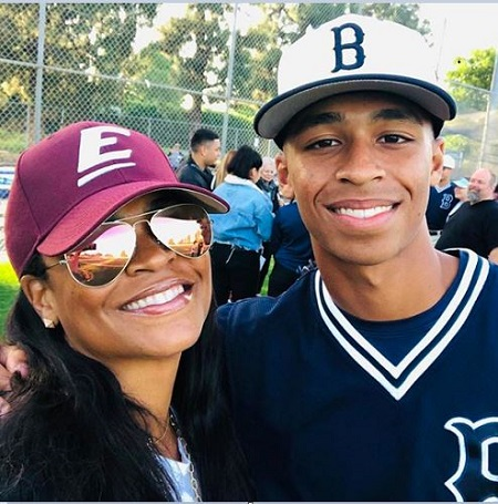 Nia Long With Her Eldest Son, Massai Zhivago Dorsey II