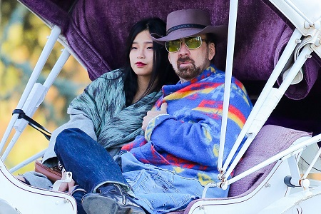 Nicolas Cage With His New Girlfriend Riko Shibata