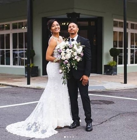 The traffic journalist for WWL TV April Dupre tied the wedding knot with Jarrod in March 2019.