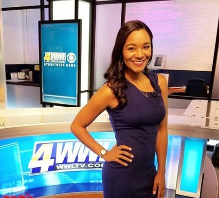 The fitness instructor April Dupre works as a traffic reporter at WWL TV.