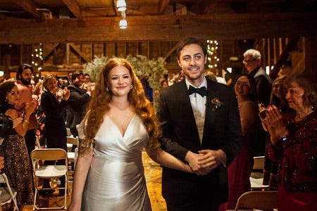 The Wedding Picture of Mary Wiseman and Noah Averbach-Katz