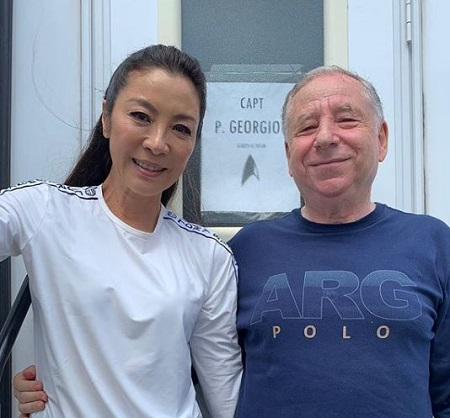 The Malaysian actress Michelle Yeoh with her fiance Jean Todt.