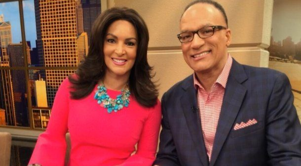 57 years old, Cheryl with her ex- husband and co-anchor at ABC 7 Chicago(WLS-TV).
