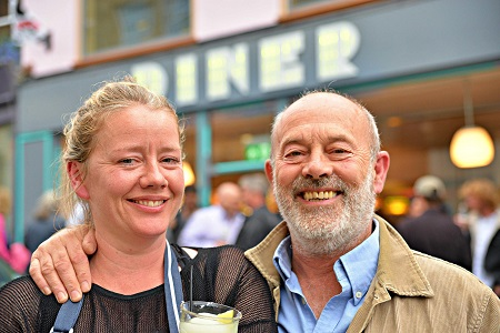 Keith Allen With His Girlfriend, Tamzin Malleson