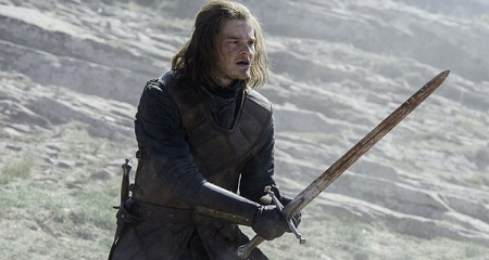 Robert Aramayo as Eddard Stark on Game of Thrones