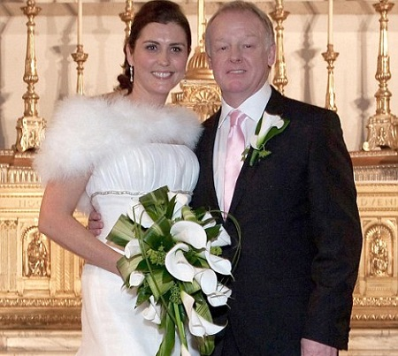 Les Dennis And Claire Nicholson During The Marriage Function