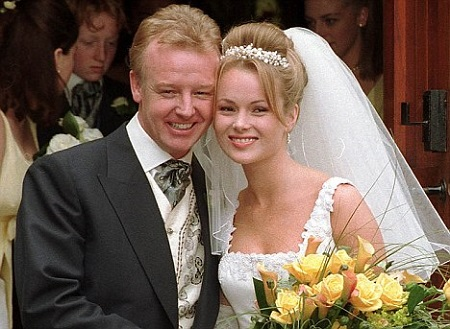 The Wedding Portrait Of Ex-Couple, Les Dennis and Amanda Holde