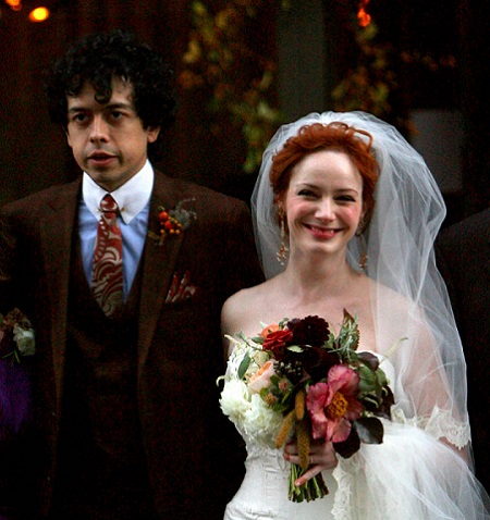 Christina Hendricks and Geoffrey Arend Wedding's Photograph