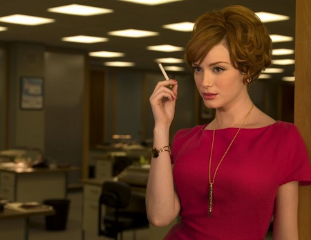 Christina Hendricks as Joan Holloway on Mad Men