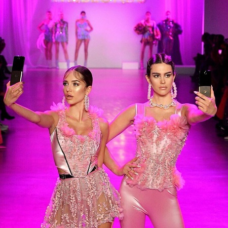 Lisa Rinna's Daughters, Amelia and Delilah on the runway at The Blonds Fall 2020 show
