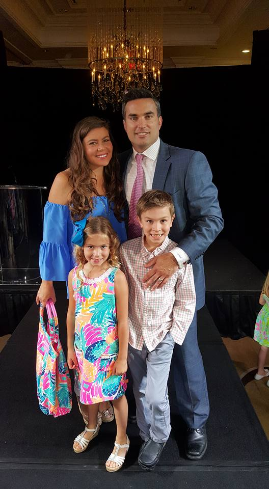 Doug Kammerer with his beautiful wife and two children.