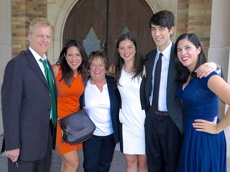 Bob Sirott With His Wife, Marianne Murciano, Daughter, Daniela, and Two Step-Kids, Michael, Natalie Zarowny