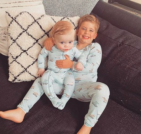 Brayden El Moussa With His Little Brother, Hudson Anstead