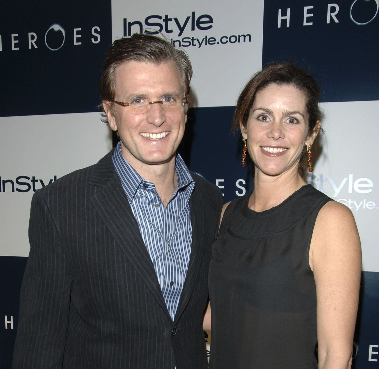 Kevin Reilly with his beautiful wife, Cristan Reilly, attending an event.