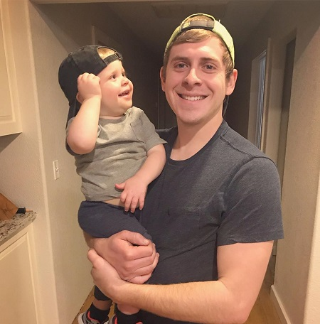 Austin Forsyth With His Two Years Old Son, Gideon Forsyth