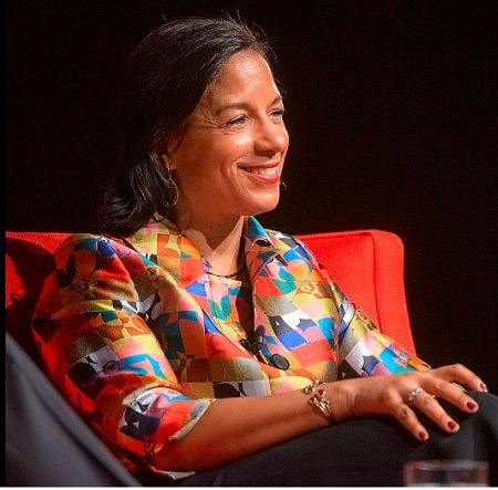Susan Rice at the Lyndon B. Johnson Presidential Library in 2019