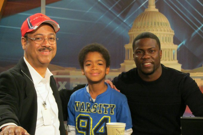 Tony's with his sons Connor and  comedian, Kevin Hart
