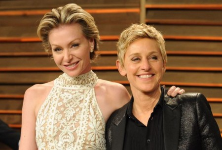 Portia has a net worth of $50 million, while Ellen's net worth is $490 million.