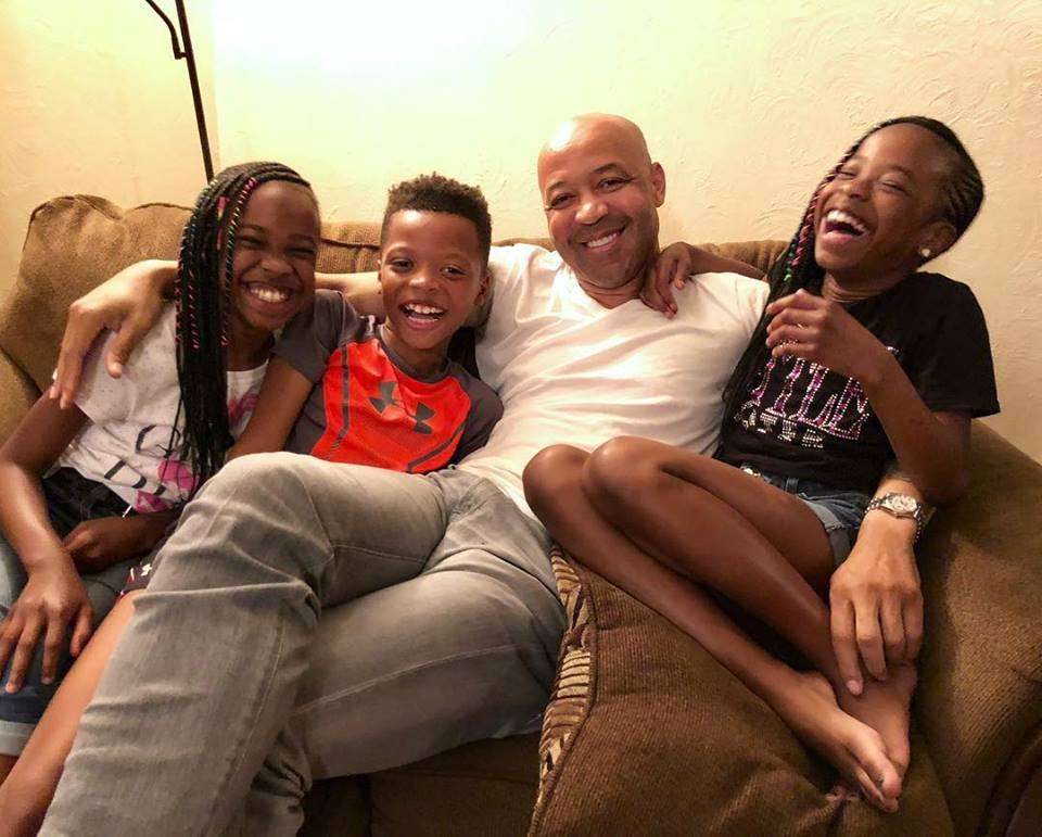 The former Detective, Rodney is enjoying a happy moment with his three children.