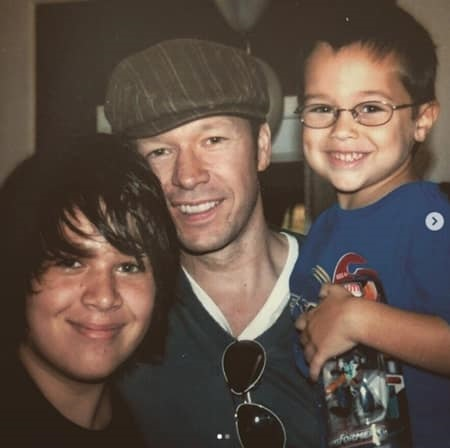 Donnie Wahlberg With His Sons, Xavier Wahlberg (Left), and Hendrix Wahlberg (Right)