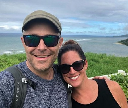 Sarah Spain and her husband Brad Zibung pictured together on their trip to Hawaii.